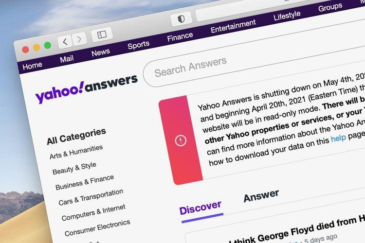 Situs Yahoo Answers akan Ditutup Selamanya pada 4 Mei