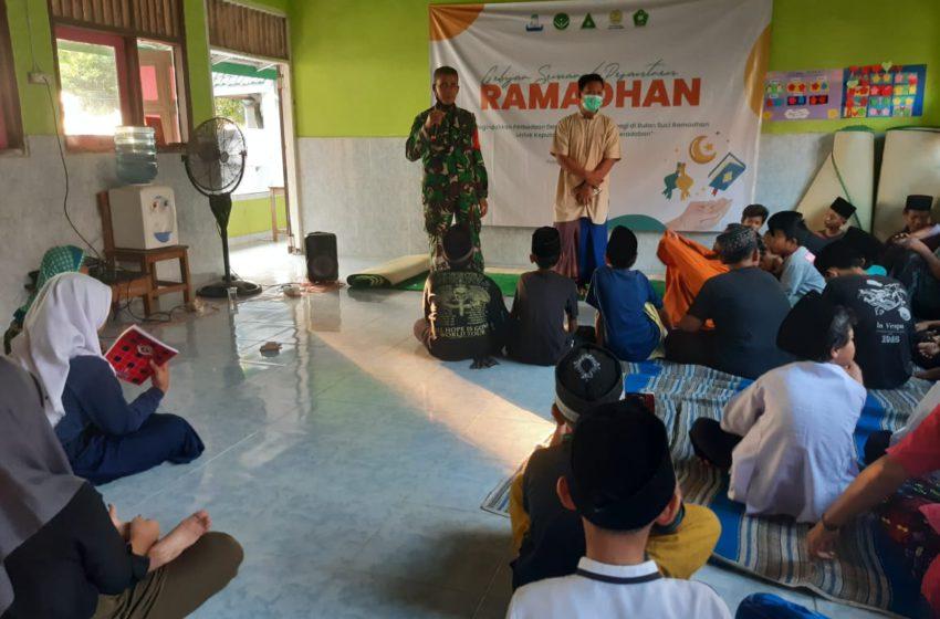 Babinsa Koramil 04/KS Kunjungi Pesantren Kilat MDTA Kepulauan Seribu