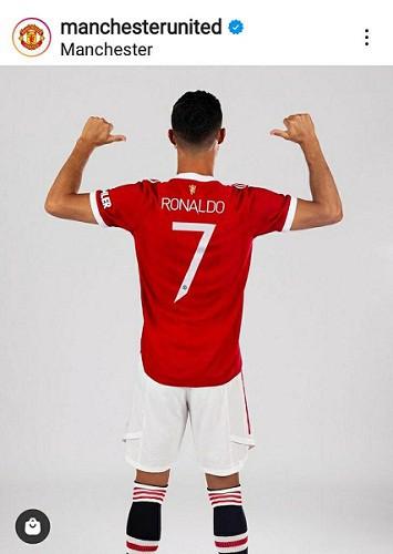 Kembali ke Old Trafford, Ronaldo Pakai Nomor Punggung 7